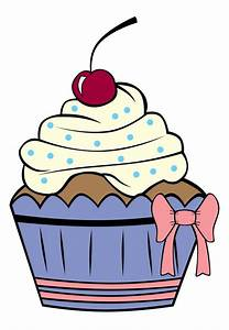 Cupcake Outline Clip Art | Cartoon Cupcake Outline Cake ...