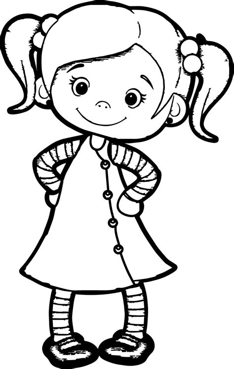beautiful cute girl coloring page wecoloringpagecom