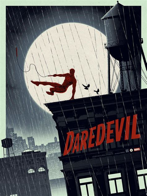 Daredevil Glowinthedark Art Print By Matt Ferguson