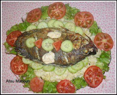 recette de cuisine africaine malienne poisson braisé et salade recettes africaines