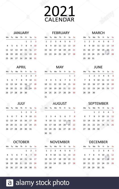 calendar template simple black  white design