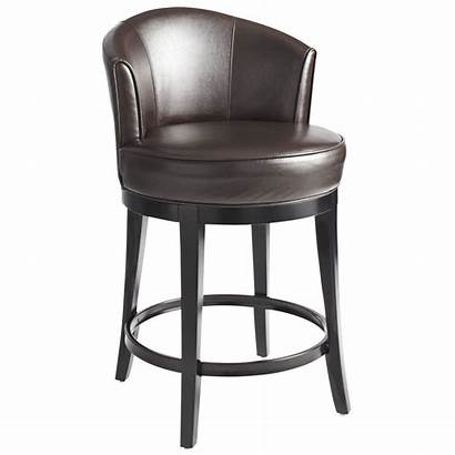 Swivel Stools Bar Leather Counter Stool Brown