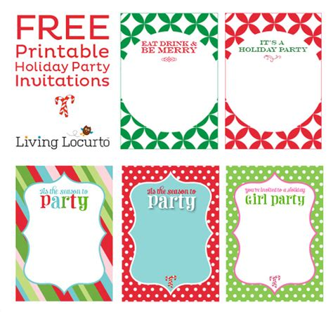 free christmas party invitations template best template collection