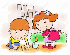 children planting clipart - Clipground