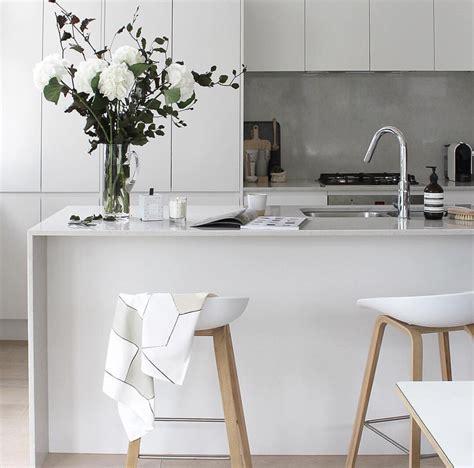 grey scale kitchen modern white bench top