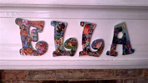 diy  mod podge wooden letters disney   youtube
