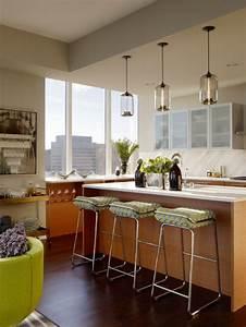 Eclairage Plafond Cuisine : clairage de cuisine 45 id es suspensions ou spots choisir ~ Edinachiropracticcenter.com Idées de Décoration