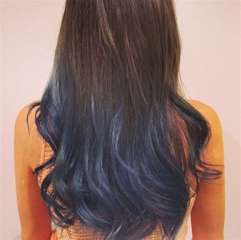 dark brown hair with light brown tips brown hair with blue tips www pixshark com