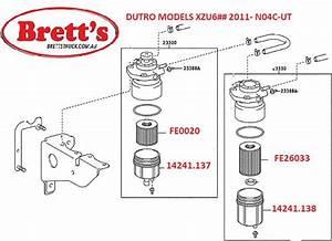 Fe26033 Fuel Filter Hino Dutro Xku645 Xku655 Xjc710r 720r