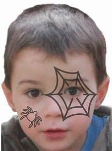Maquillage Halloween Enfant Facile : maquillage halloween tuto maquillage enfant loisirs ~ Nature-et-papiers.com Idées de Décoration