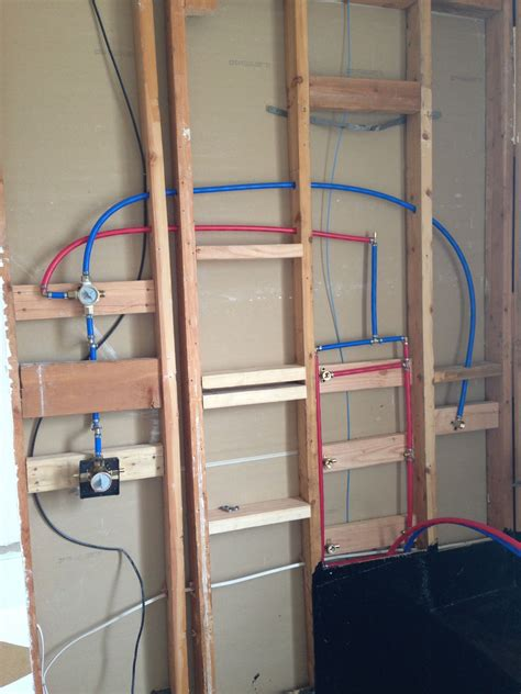 plumbing  shower  pex bathroom remodel
