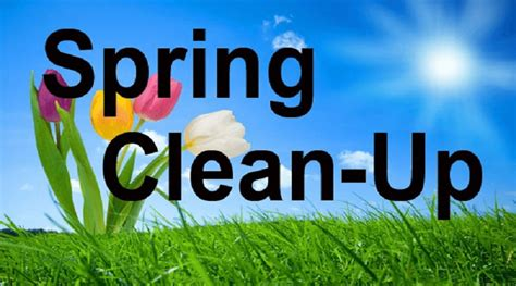 Image result for Spring clean up schedule