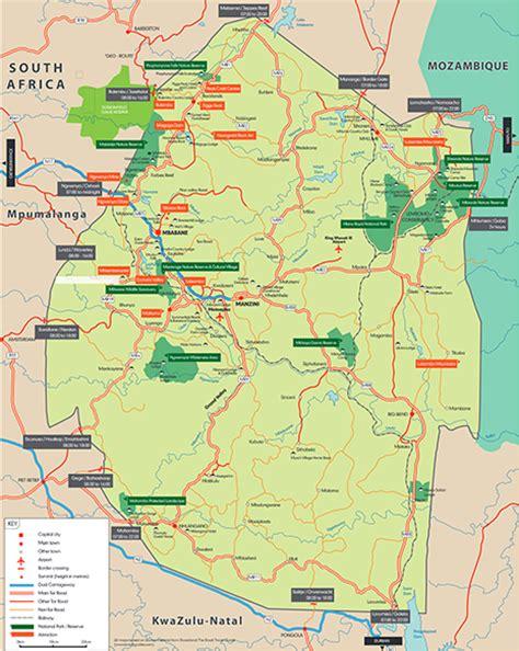 Swaziland Africa Map
