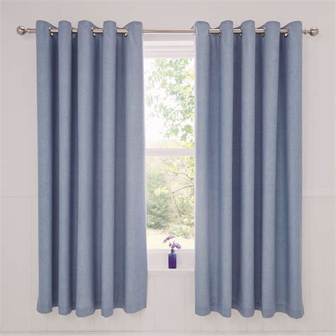 Thermal Curtain Liner Eyelet rathmoore thermal lined eyelet curtains 66 x 72 blue