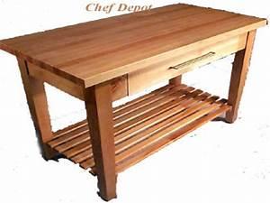 kitchen utility tables, Butcher Block Kitchen Table