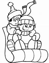 Winter Coloring Pages Printable sketch template