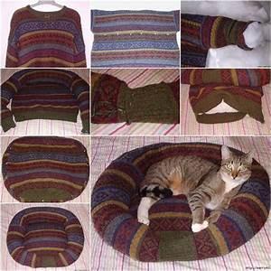 Wonderful Diy Pet Bed From Old Shirt  U0026 Sweater