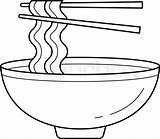 Noodles Bowl sketch template