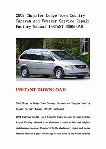 2002 Chrysler Dodge Town Country Caravan And Voyager