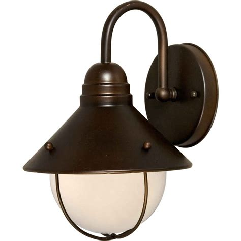 shop 12 in h antique bronze outdoor wall light at lowes com