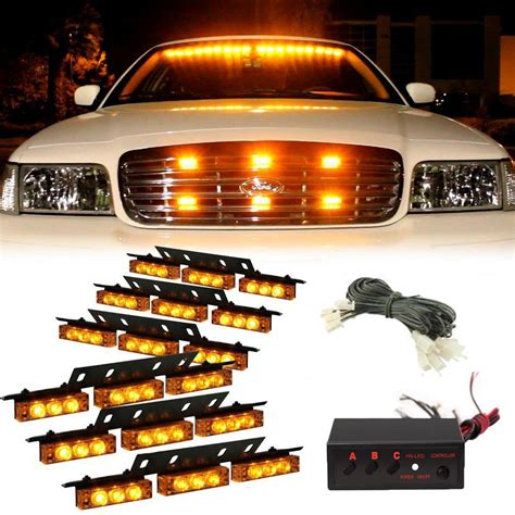 Truck Grill Lights by 54 Led Emergency Truck Car Strobe Lights Bar Warning Snow
