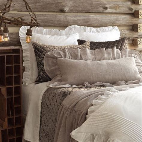 white bedspread with ruffles farmhouse style furniture bedding and decor