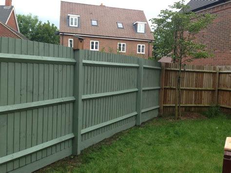 Cuprinol Garden Shade Willow Garden Fence Painted In