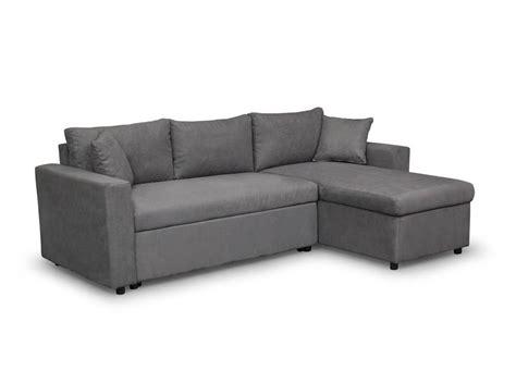 canapé d angle canapé d 39 angle réversible et convertible avec coffre gris