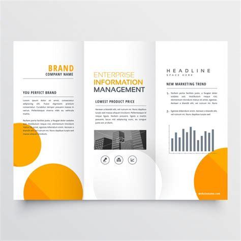 Free Orange Business Tri Fold Brochure Template Psd Titanui Corporate Business Trifold Brochure Design With Orange