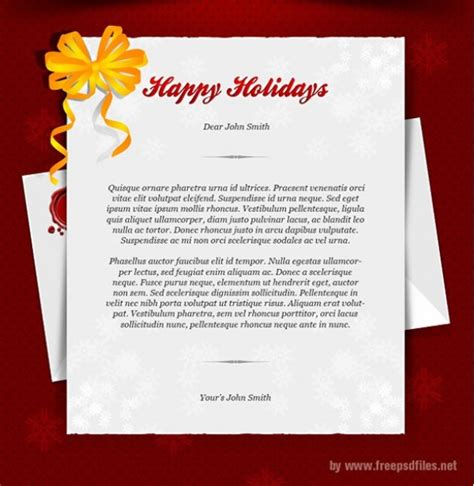 happy holidays greeting card template psd welovesolo