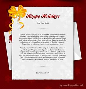 Happy Holidays Greeting Card Template PSD Freebie ...