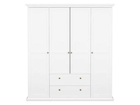 armoire 4 portes paris coloris blanc conforama pickture
