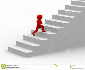 3d People Climb The Staircase - Stair Stock Illustration ...