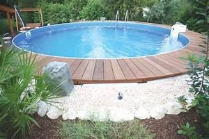 Pool Mit Holz : poolumrandung holz rund selber bauen ~ Orissabook.com Haus und Dekorationen
