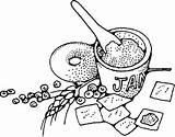 Clipart Jam Crackers Clip Breakfast Outline Cracker Svg Sweet Delicious Vektor Jelly Cartoon Drawing Kekse Tom Marmelade Marmellata Transparent تلوين sketch template