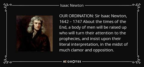isaac newton quote  ordination sir isaac newton