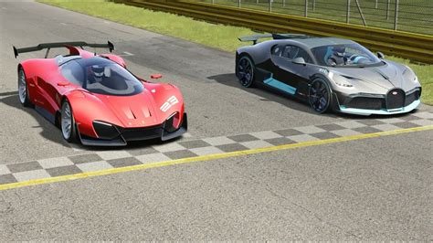 Although we doubt we'll have the privilege to pilot a divo, we have driven the chiron and can only assume its diabolical alter ego—which weighs a claimed 77. Ferrari Xezri Competizione Concept vs Bugatti Divo at Monza Full Course - YouTube