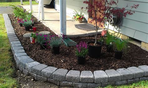 landscape bricks front yard shrub bed landscaping small house landscaping in the puget sound area patio