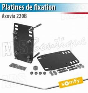 Fixation Portail Battant : platines de fixation axovia 220 b somfy ~ Premium-room.com Idées de Décoration