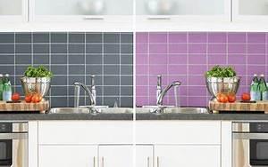 peinture pour peindre du carrelage murs cuisine et salle With peinture carrelage mural cuisine
