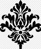 Damask Stencil Pattern, PNG, 821x973px, Damask, Art, Black ...