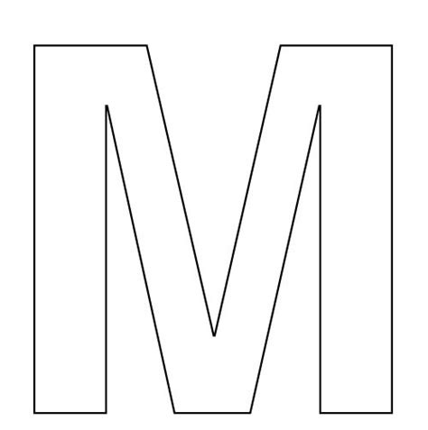 big letter m big letters to print and cut out printable 360 degree 20607 | big letters to print and cut out letter m