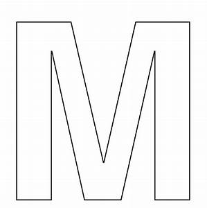 5 best images of extra large printable cut out letters With giant letter m