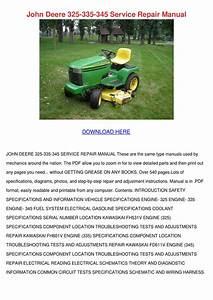 John Deere 325 335 345 Service Repair Manual By Kari Mabey