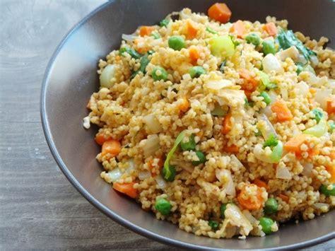 cuisine milet vegetable fried millet vegetarian and gluten free