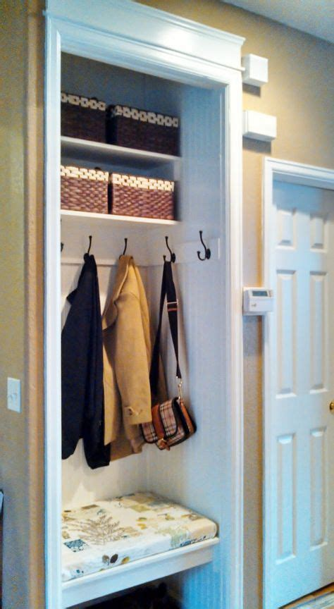 how to turn a small closet into a mudroom search