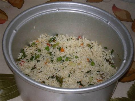 rice in rice cooker foodie delights bangalore life n spice fried rice in rice cooker