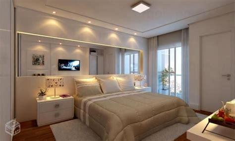 quarto de casal com espelho na cabeceira ideias para a casa pinte