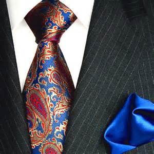 krawatten designer 1201901 lorenzo cana luxury 100 silk set necktie and hanky blue paisley ebay