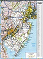 New Jersey map with rivers and lakes, parks and recreation ...